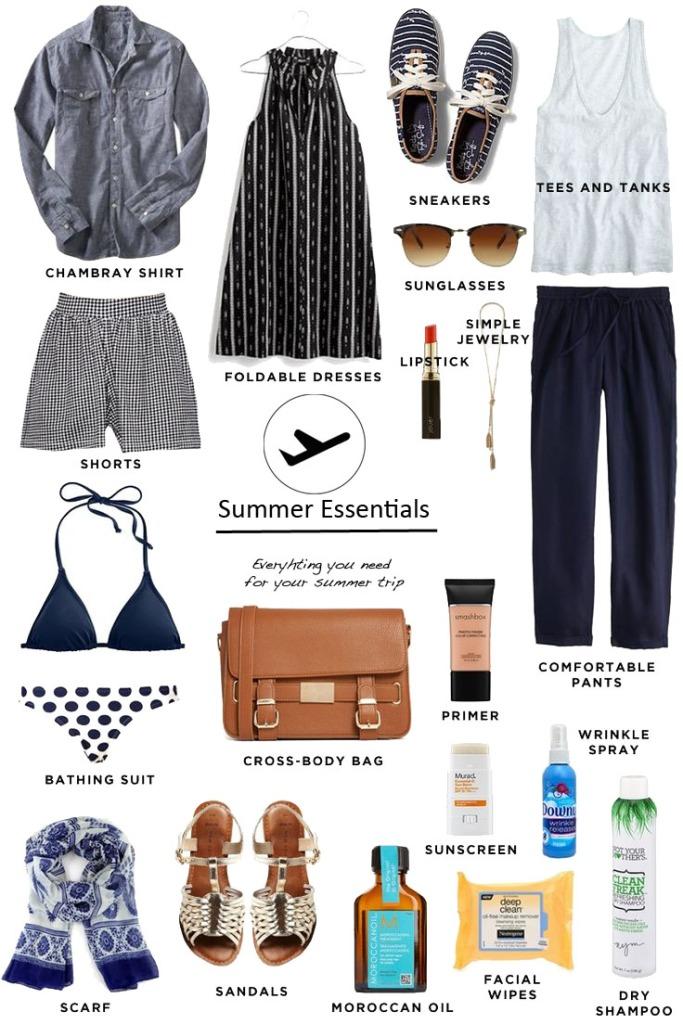 Summer essentials montage